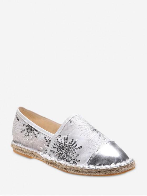 รองเท้าส้นแบน Paillette - ขาว EU 39