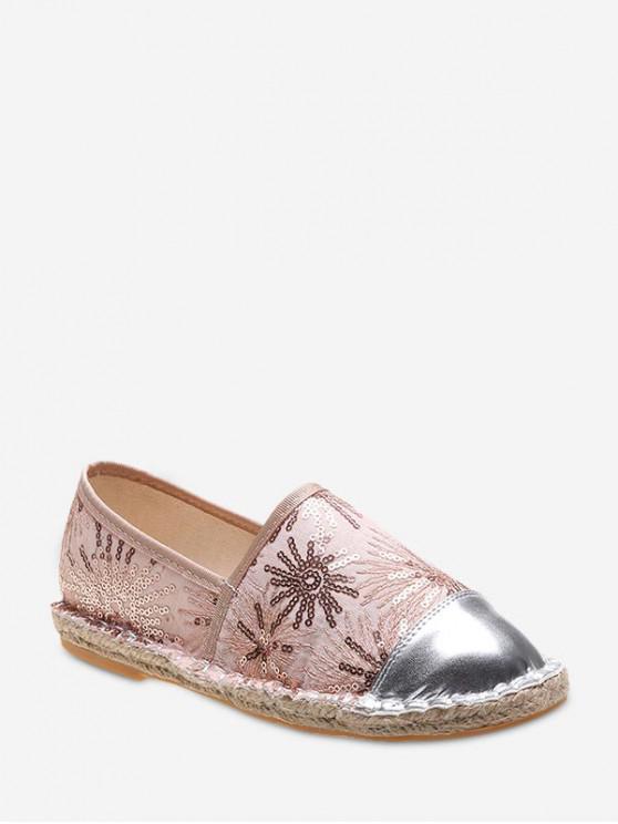 outfit Flat Heel Paillette Bucket Shoes - CHAMPAGNE EU 39