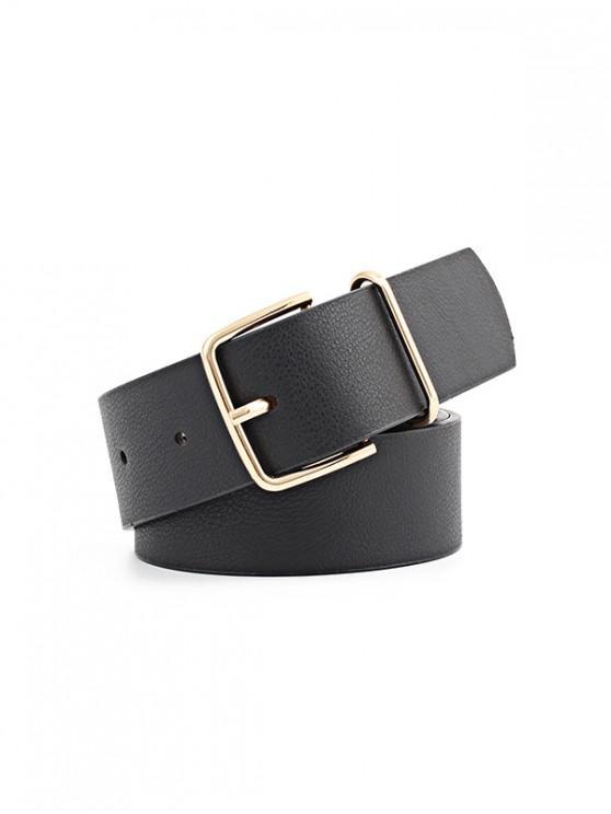 Cinturón de Hebilla Casual Cuero PU Estampado Serpiente - Negro