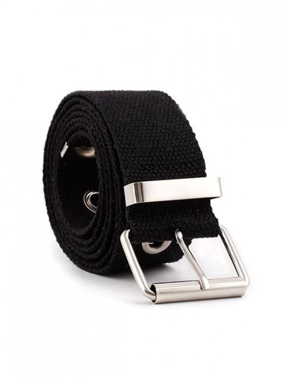 索環扣布帶 - 黑色