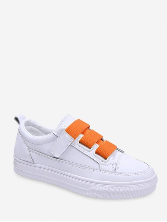 Zapatillas de patín de PU de gancho en contraste - Naranja EU 39