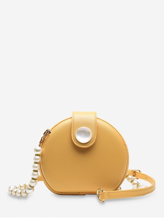 Borsa per mensa con cinturino in finta perla - Giallo