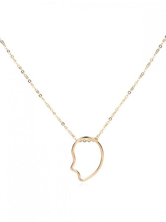 buy Brief Abstract Hollow Pendant Necklace - GOLD