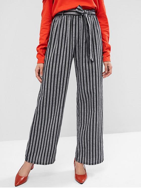 Pantaloni a gamba larga con cintura a righe ZAFUL - Multi Colori-A XL