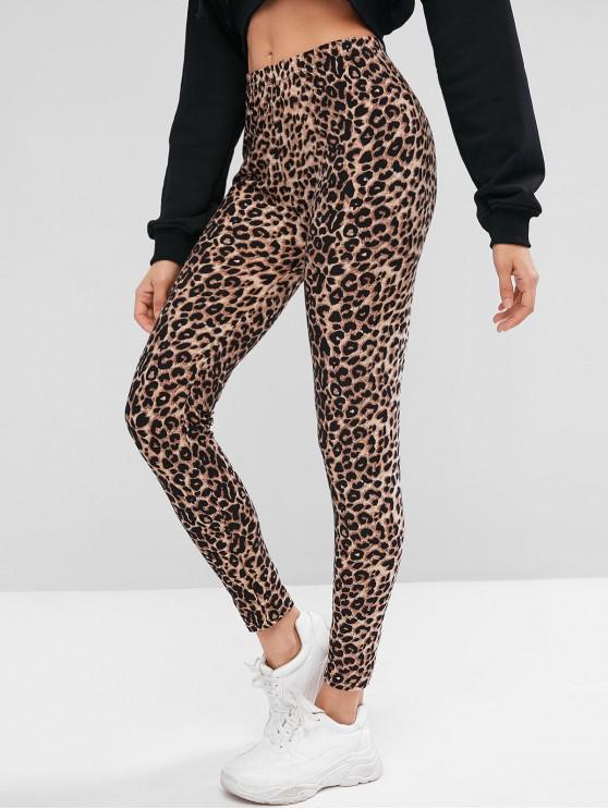 Leggings a vita alta con stampa leopardo - Leopardo Taglia unica