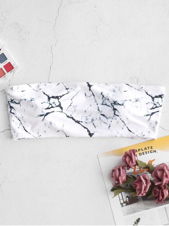 Top bikini a fascia laterale disossato con stampa marmo ZAFUL - Multi Colori-A M