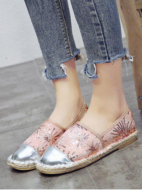 outfit Flat Heel Paillette Bucket Shoes - CHAMPAGNE EU 39 Mobile