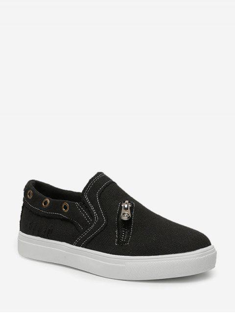 Chaussures Plates Zippées - Noir EU 37 Mobile
