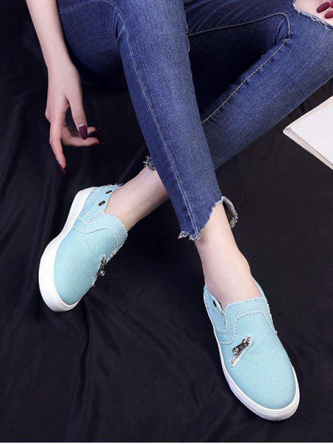 Молния Без шнуровки Плоские Туфли - Доджер-синий ЕС 42 Mobile