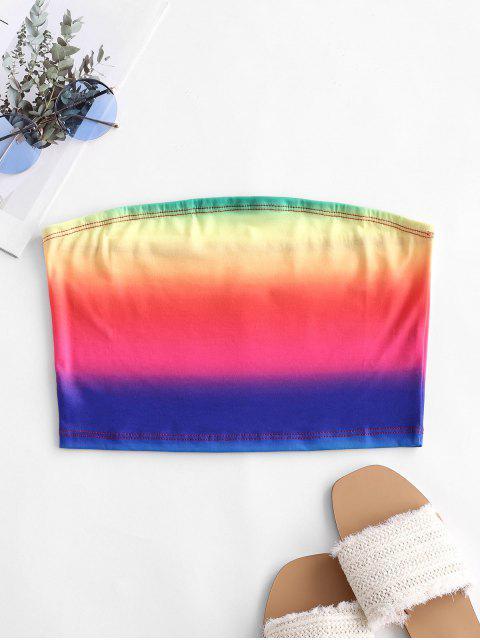 latest Rainbow Ombre Tube Top - MULTI-A M Mobile