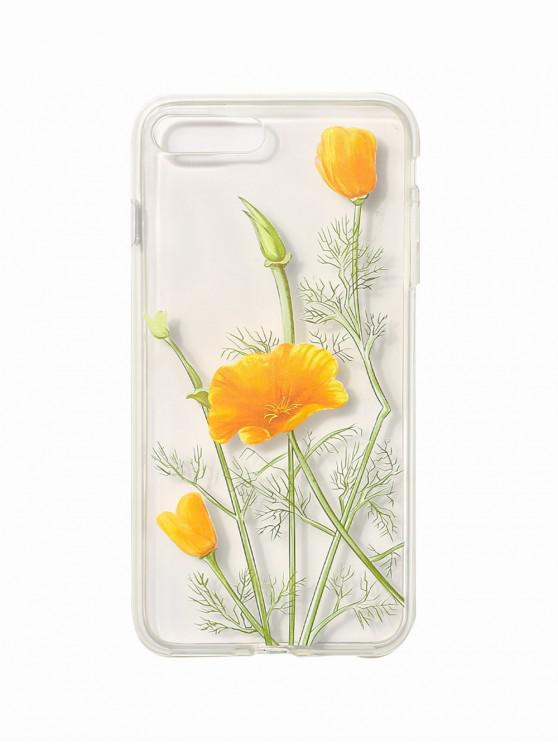 Plant Flower Phone Case For Iphone BRIGHT YELLOW