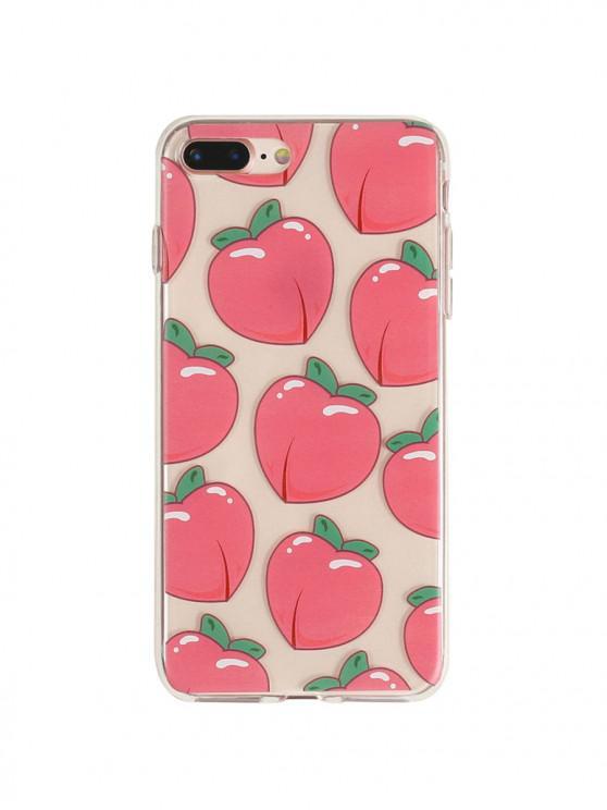 Peach Transparent Phone Case pour iPhone - Rouge Saint-Valentin 7/8