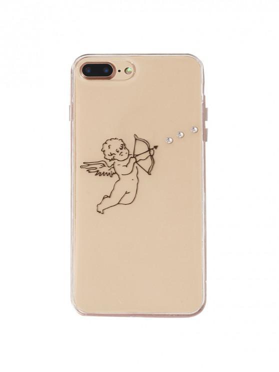 outfit Cupid Love Pattern Phone Case For Iphone - BLACK 7/8