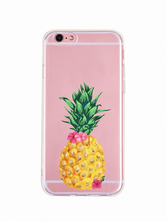 fashion Pineapple Flower Pattern Phone Case For Iphone - MUSTARD 6P