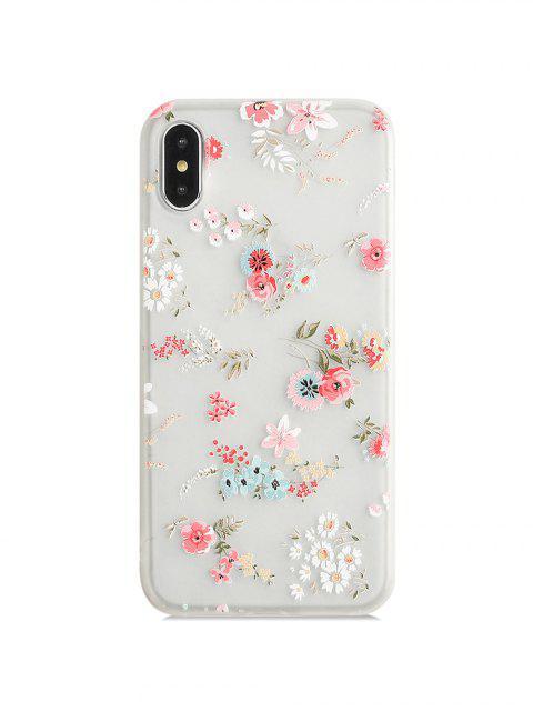 Чехол для iPhone с цветочными листьями - Арбуз-розовый Xs max Mobile