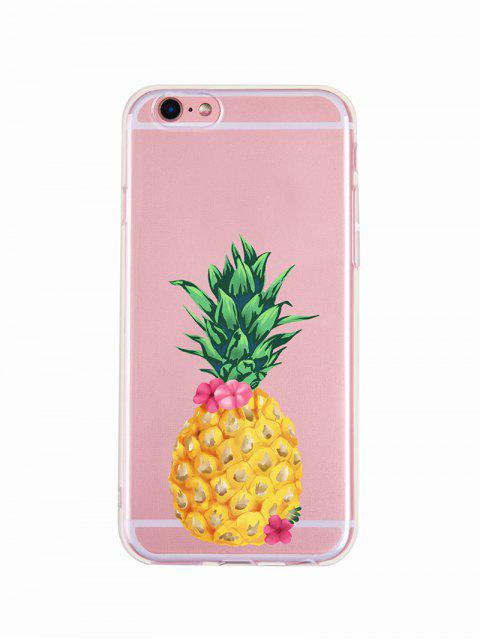 affordable Pineapple Flower Pattern Phone Case For Iphone - MUSTARD XS MAX Mobile