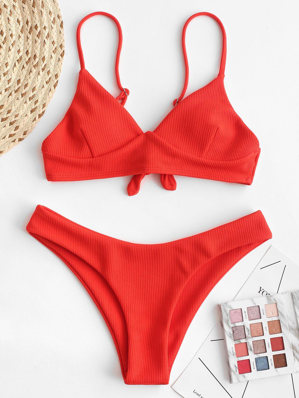 ZAFUL Costine Tie Indietro Cami Bikini Costume da bagno