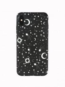 نجمة القمر حالة الهاتف لفون - أسود Xr