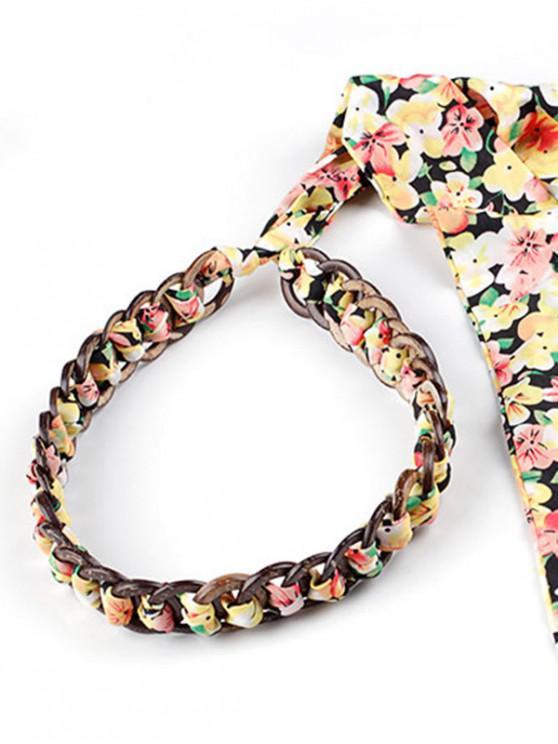 Robe FloralMulti Taille Ruban De a Chaîne Imprimé SqUpzMV