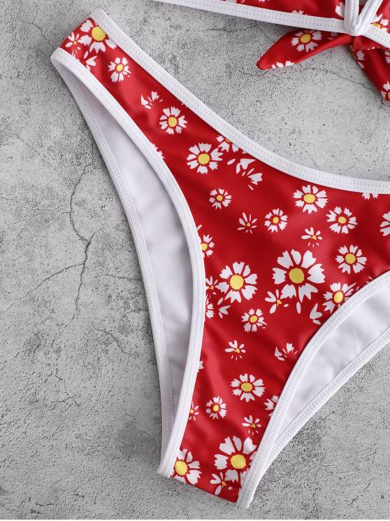 Lave En L Marguerite Haute Bain Bikini Armature Zaful Imprimée VRouge De À Maillot Jambe eYE2Hb9WDI