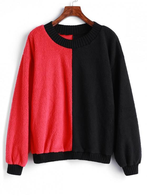 Sweat-shirt en Blocs de Couleurs à Goutte Epaule - Multi-A S