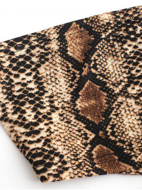ZAFUL Haut Court Bandeau Serpent Imprimé Croisé - Multi-B M Mobile
