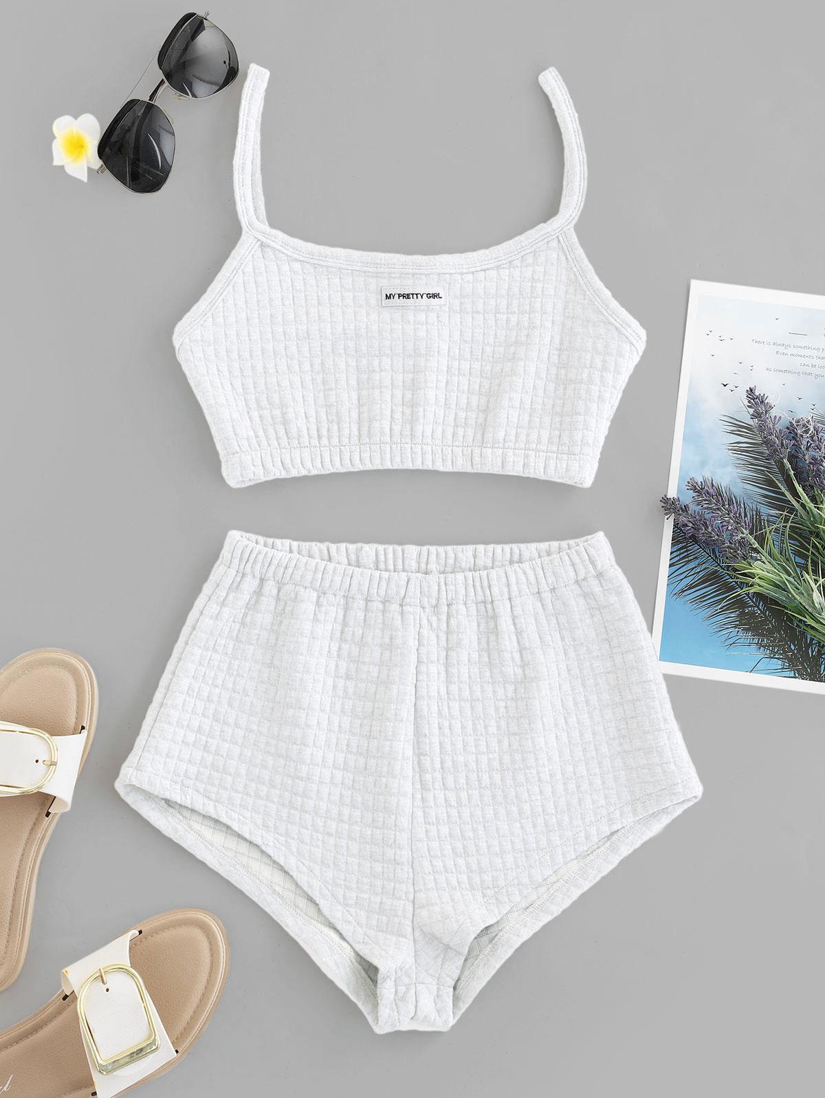 My Pretty Girl Patched Textured Square Two Piece Set thumbnail