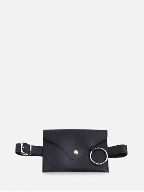 shop O-ring PU Funny Pack with Removable Thin Belt - BLACK