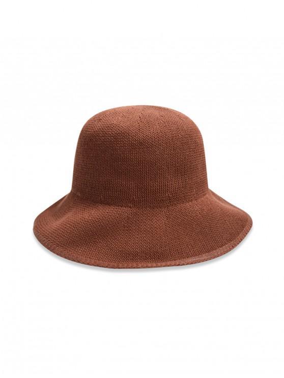 หมวกถังทอธรรมดา - กาแฟ
