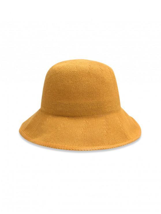 หมวกถังทอธรรมดา - สีเหลือง