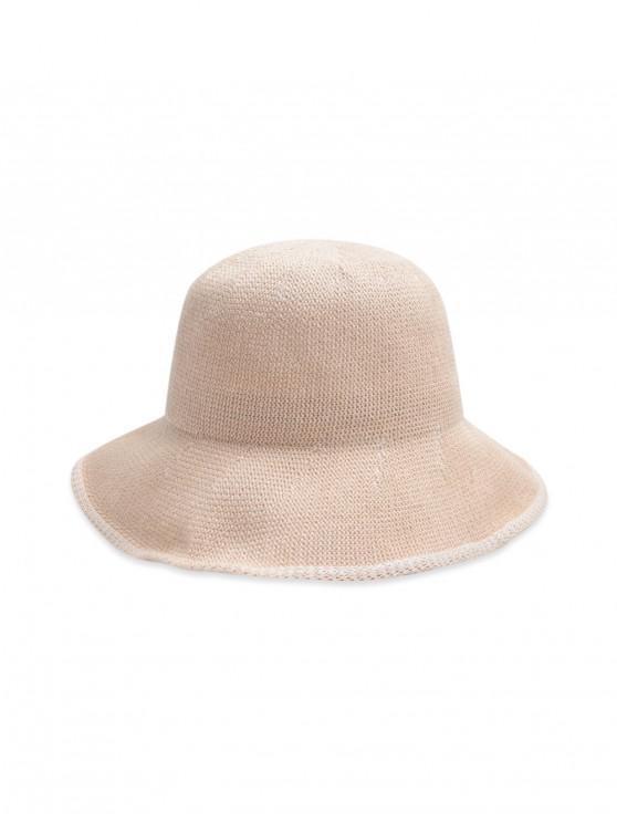 หมวกถังทอธรรมดา - ชมพูอ่อน