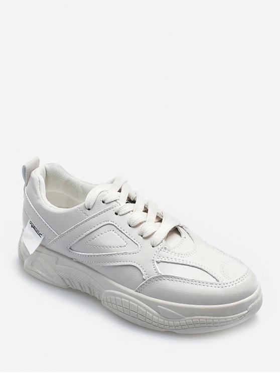 Diseño de costura PU zapatos de skate - Beige EU 37