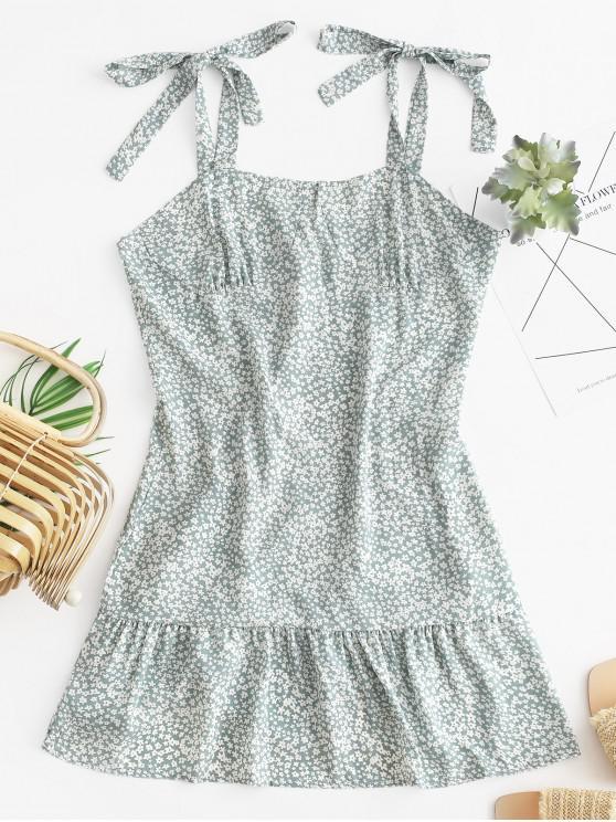 Mini abito a bustino floreale Ditsy con spalle scoperte - Verde XL
