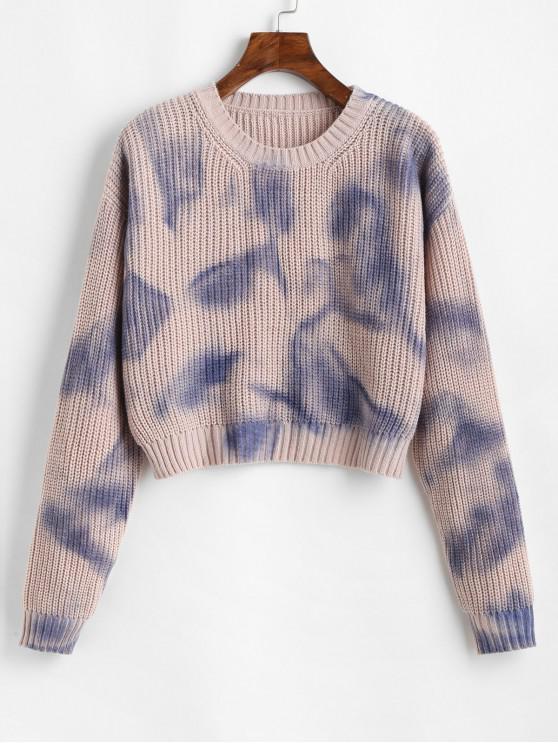 Suéter estampado con contraste en el hombro con hombros descubiertos de ZAFUL - Multicolor Talla única