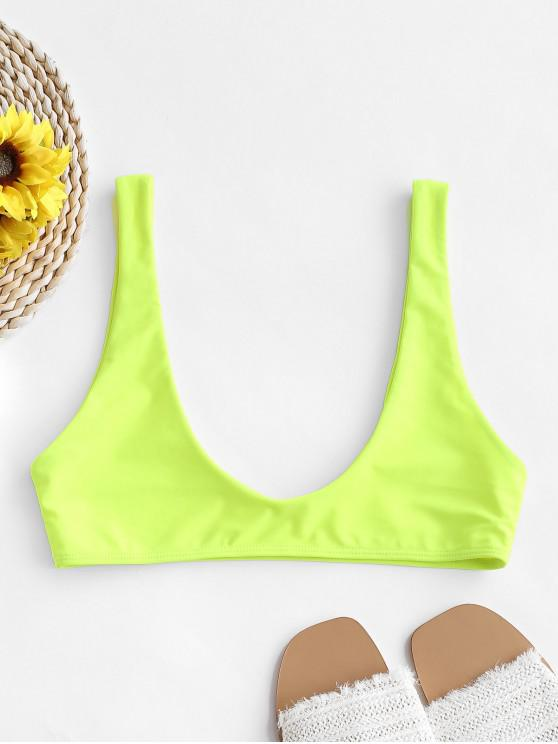 Top bikini sportivo scoop ZAFUL Scoop - Verde Giallo S