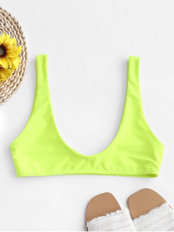 Top de bikini corto deportivo con pala ZAFUL - Verde Amarillo L