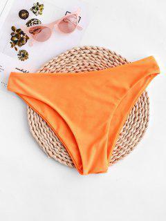 ZAFUL Mid-rise Basic Bikini Bottom - Dark Orange M
