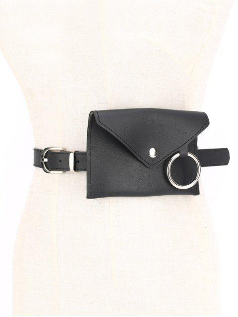 shop O-ring PU Funny Pack with Removable Thin Belt - BLACK  Mobile