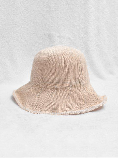 women Woven Plain Bucket Hat - LIGHT PINK  Mobile