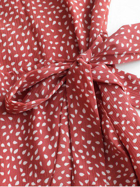 Robe Superposée Goutte de Pluie Imprimée à Bretelle - Corail Léger M Mobile