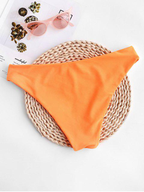 ZAFUL  Basik- Bikini-Unterseite mit Mittele Taille - Dunkles Orange S Mobile