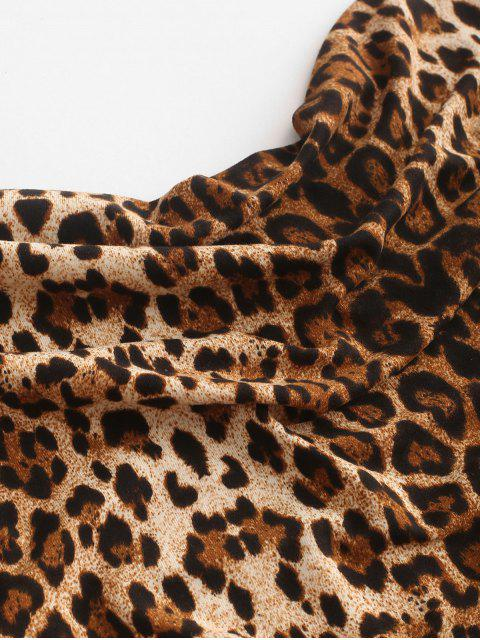Robe à Bretelle Fendue Léopard Peau de Serpent Imprimé - Multi XL Mobile