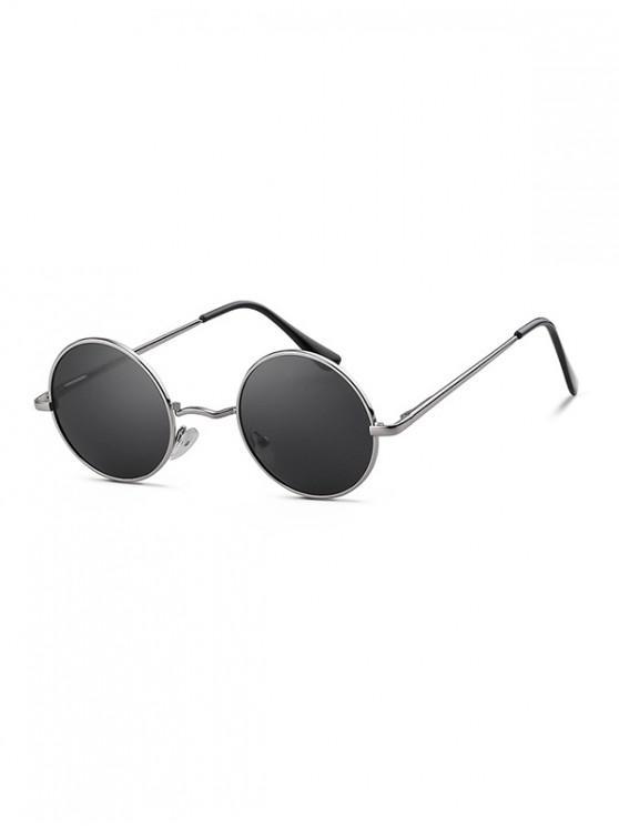 Gafas de sol redondas de metal con luz polarizada - Gris