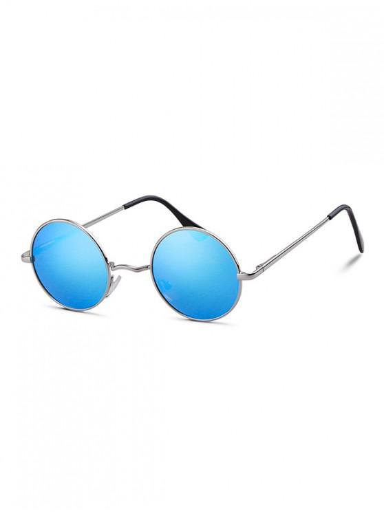 hot Round Metal Frame Polarized Light Sunglasses - BLUE