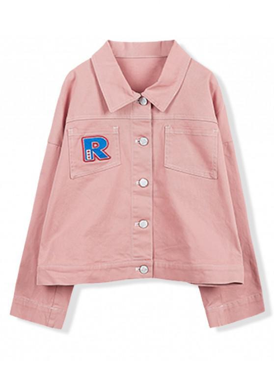 women's Pocket Decoration Single Breasted Jacket - LIGHT PINK 110