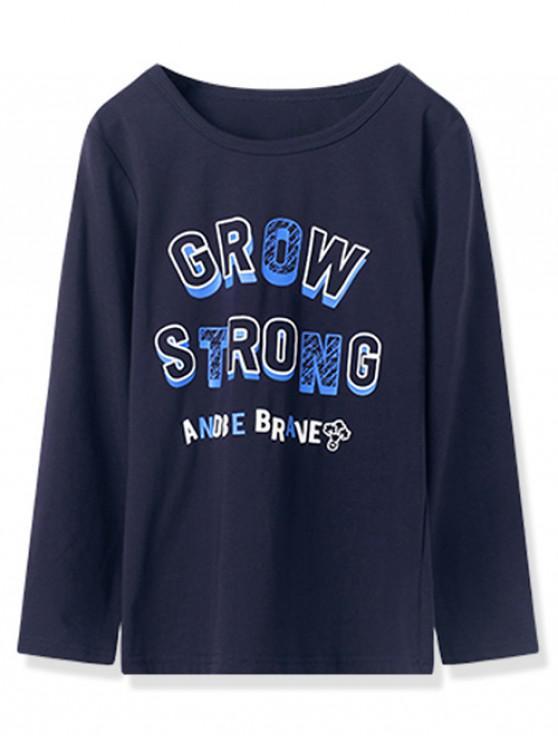 shops Kids Grow Strong Graphic Long Sleeve T Shirt - DARK SLATE BLUE 150