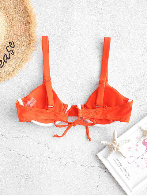 fancy ZAFUL Tie Underwire Bikini Top - DARK ORANGE S Mobile