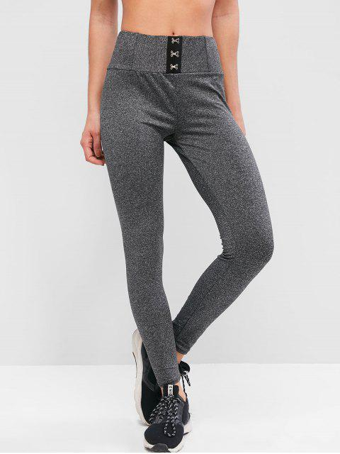 outfit Marl Hook And Eye Sports Leggings - CARBON GRAY M Mobile