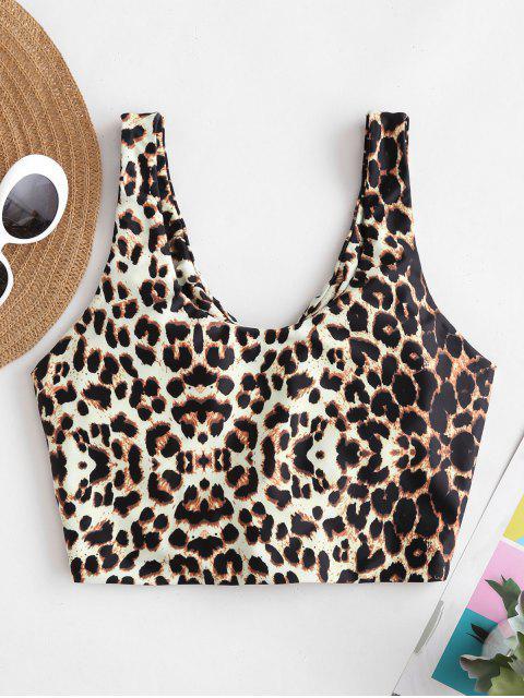 ZAFUL Haut de Bikini Rembourré Noué Leopard - Multi-A L Mobile