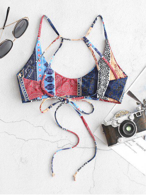 ZAFUL Haut de Bikini Fleur Cachemire à Bretelle Style Bohémien - Multi-A L Mobile